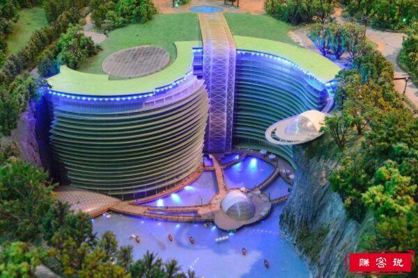 """世界上最""""坑""""的五星级酒店 深坑酒店海拔负65米"""