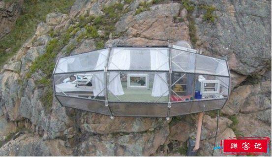 世界上最可怕的宾馆,吸附在悬崖峭壁上的胶囊旅馆