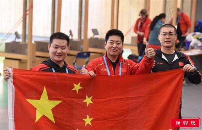 中国斩获军运会首金 中国八一射击队领先夺冠