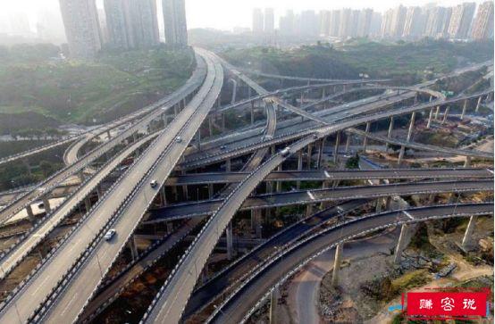 重庆最复杂立交桥,黄桷湾立交路线错综复杂(导航也被绕晕)