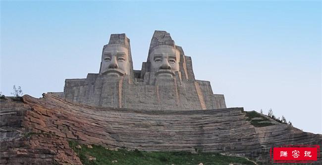 炎黄二帝巨型塑像