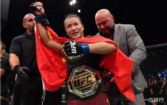 中国UFC首位冠军 张伟丽42秒TKO战胜对手